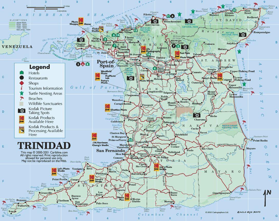 About Trinidad Map - Trinidad map