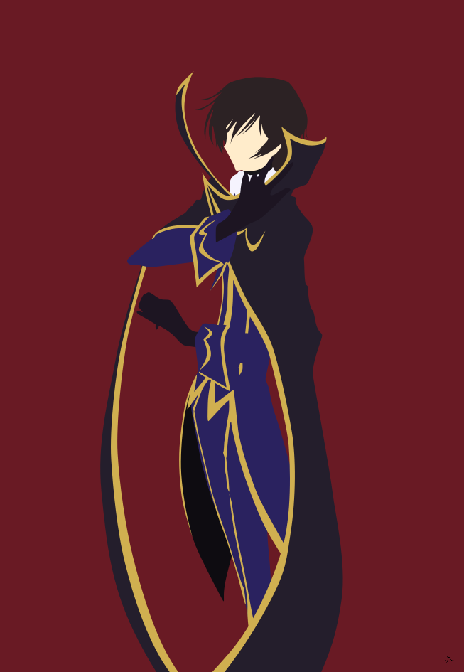 Lelouch Code Geass Portrait Version Minimalism By Greenmapple17 On DeviantART
