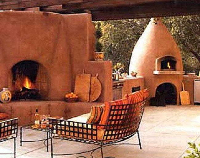 Or This Great Earthen Design Adobe Fireplace Outdoor Oven Cob Oven