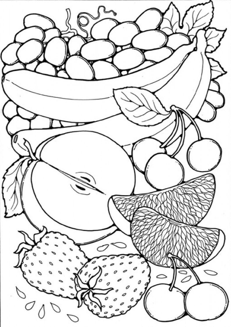 De Boomgaard Kleurplaat Google Zoeken Fruit Coloring Pages Coloring Pages Preschool Art
