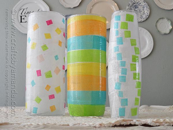 These Pretty Vases Are A Great Springtime Decoupage Craft For Adults