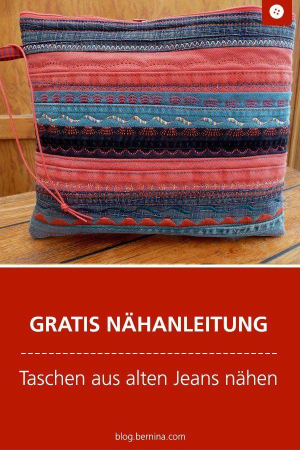 Photo of Alte Jeansnähte: Clutch, Pocket Jumper usw. »BERNINA Blog