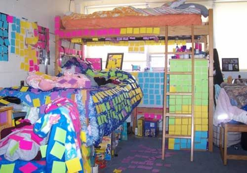 Sticky Notes Lol Dorm Dorm Room Good Pranks