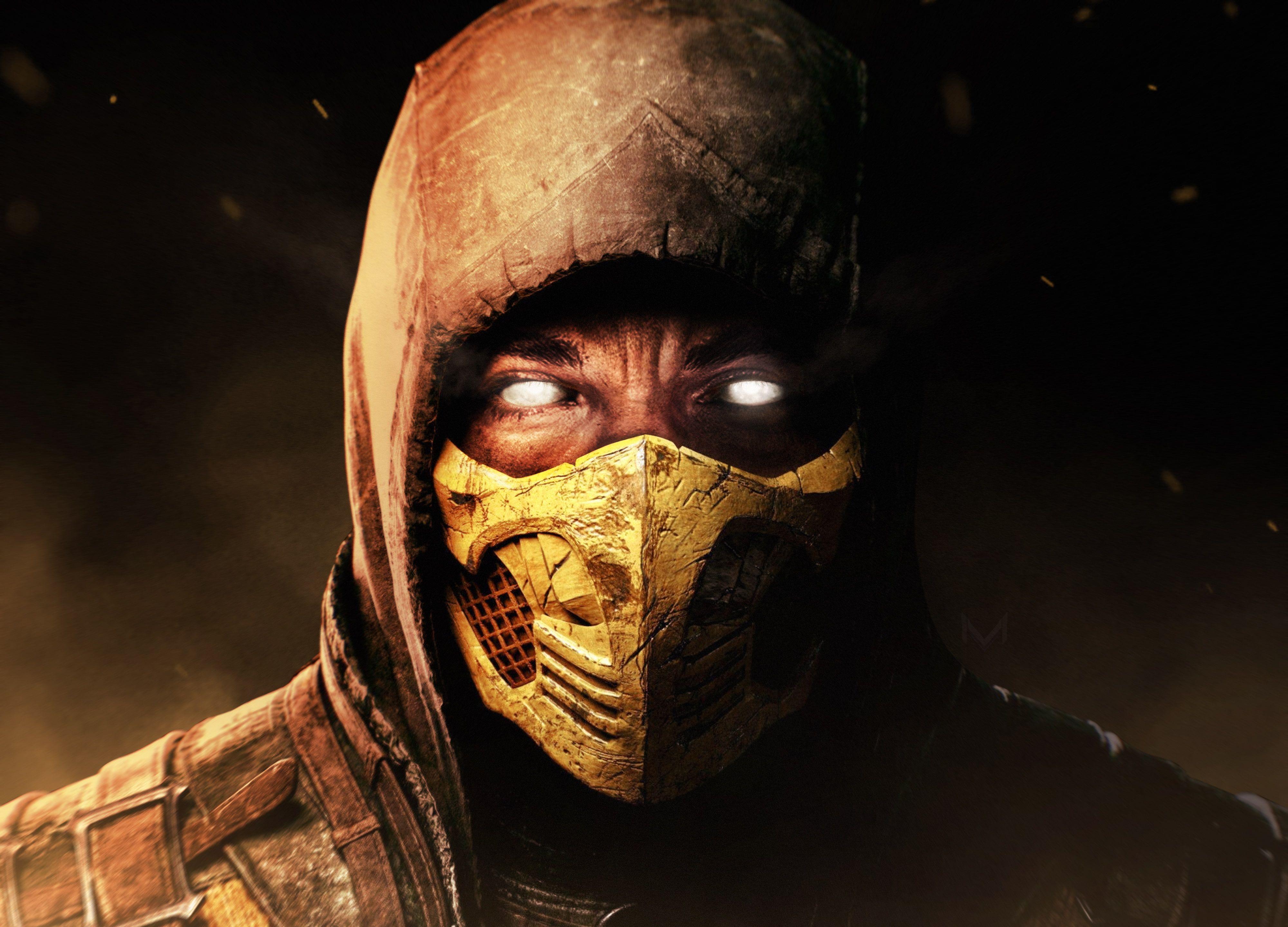 Scorpion Mortal Kombat X 4k 4k Wallpaper Hdwallpaper Desktop Mortal Kombat Mortal Kombat X Hd Wallpaper