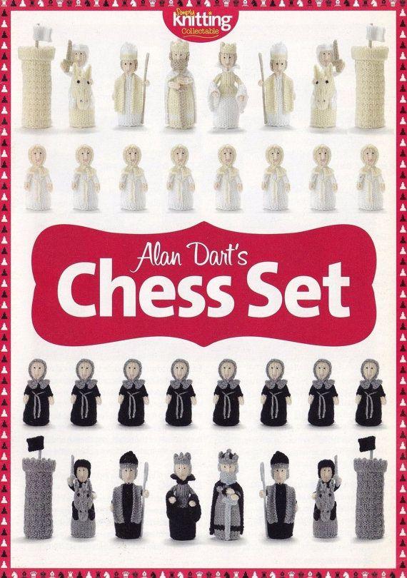 Medieval Chess Set, Alan Dart Knitting Pattern Booklet King Queen Rooks Pawns