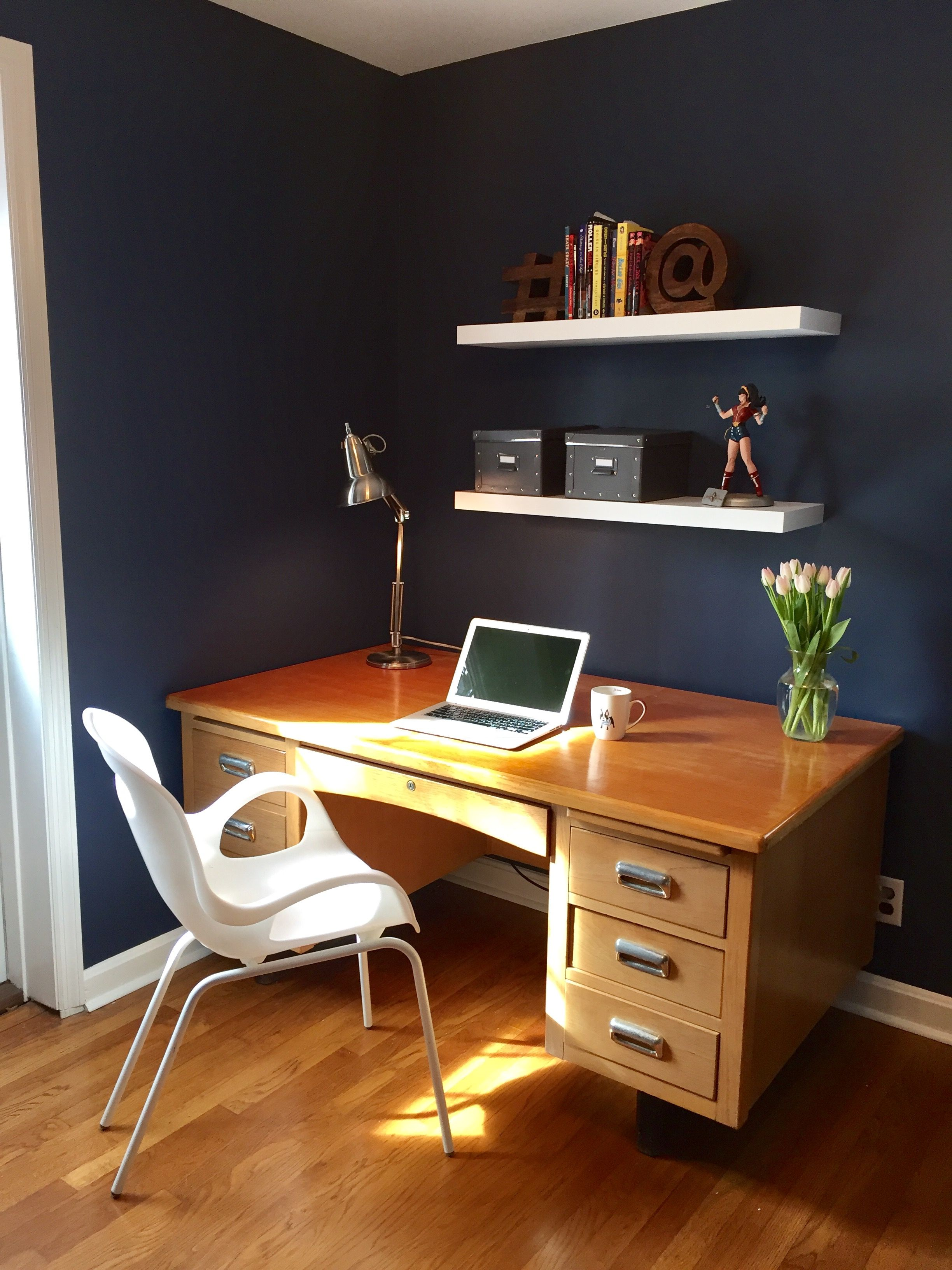 my home office wall color sherwin williams indigo batik on office wall colors id=95985