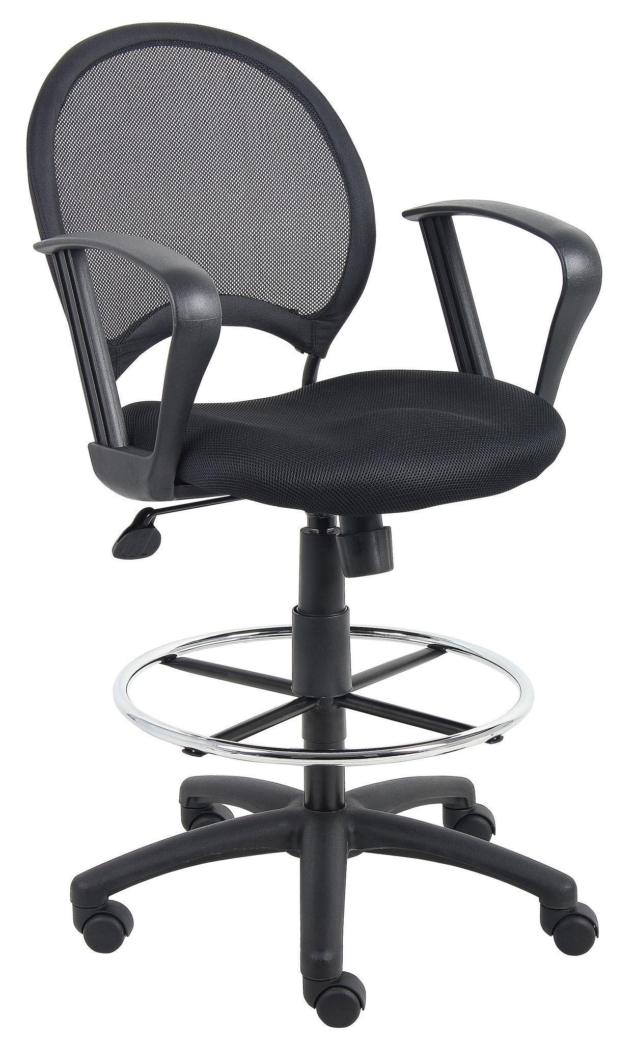 Boss b16217 mesh drafting stool with loop arms drafting