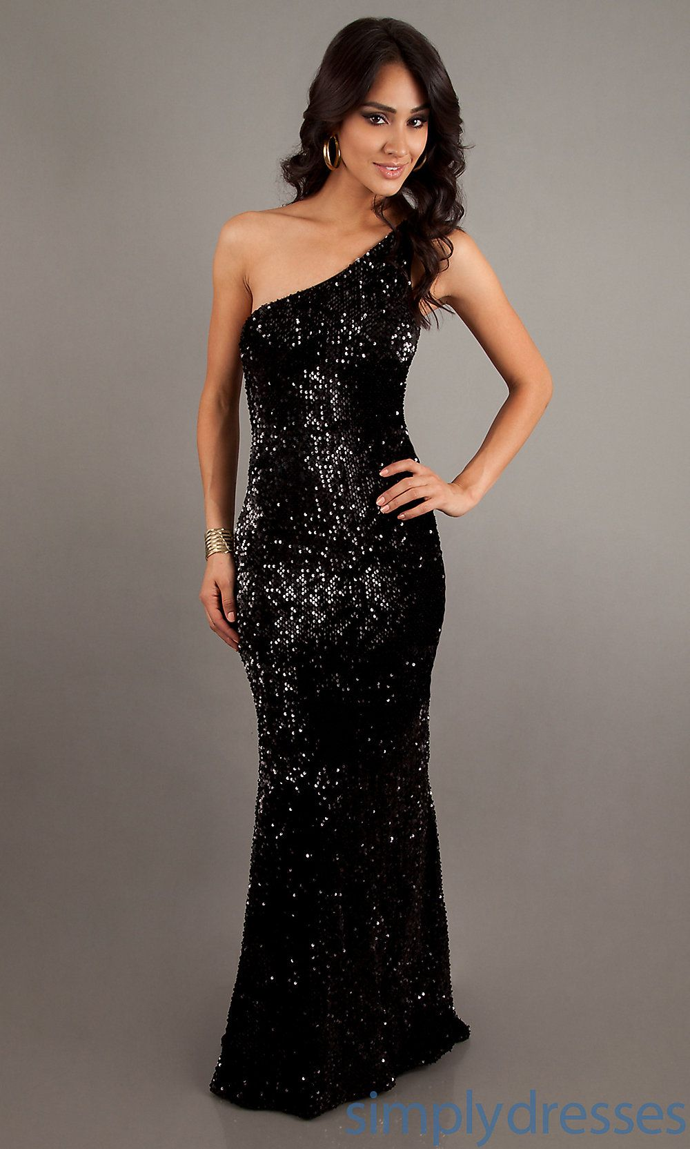 Black Sequin Prom Dress | Imaginary Closet. | Pinterest | Sequin ...