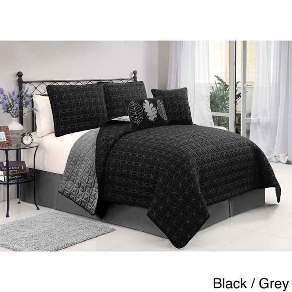VCNY Hayden Embroidered 5-Piece Reversible Quilt Set by VCNY