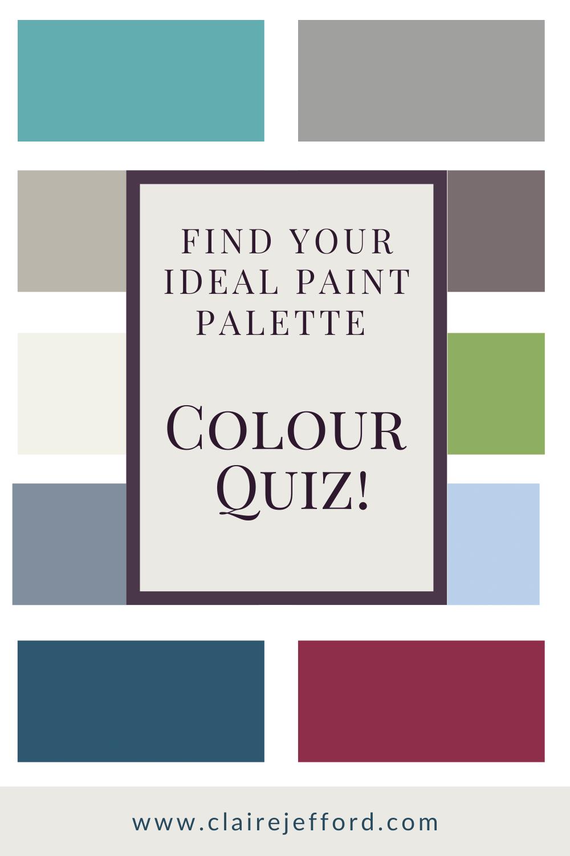 Colour Quiz What S Your Ideal Interior Colour Palette In 2020 Paint Color Palettes Color Quiz Color
