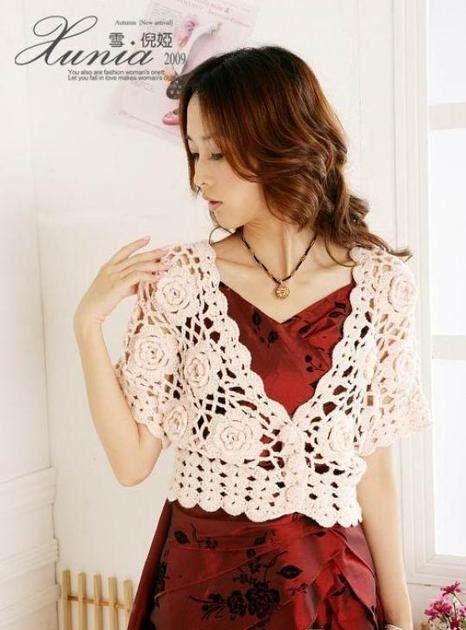TEJIDOS CROCHET: bolero crochet flor | Crochet clothing | Pinterest