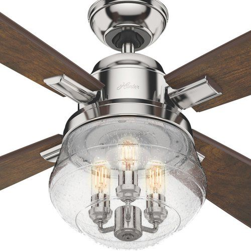 Hunter Sophia 54 In Indoor Ceiling Fan With Light And Remote