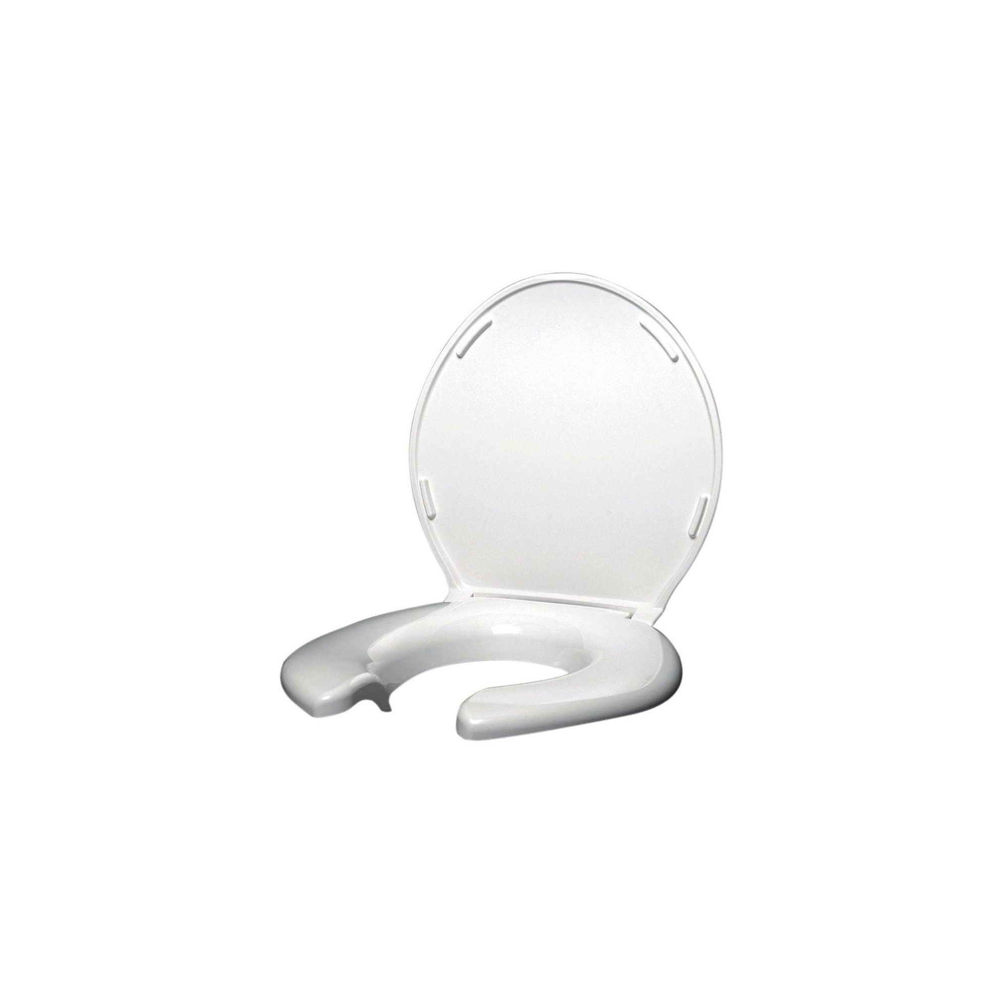 Big John Products 2445263 3w Open Front Round Toilet Seat W Steel