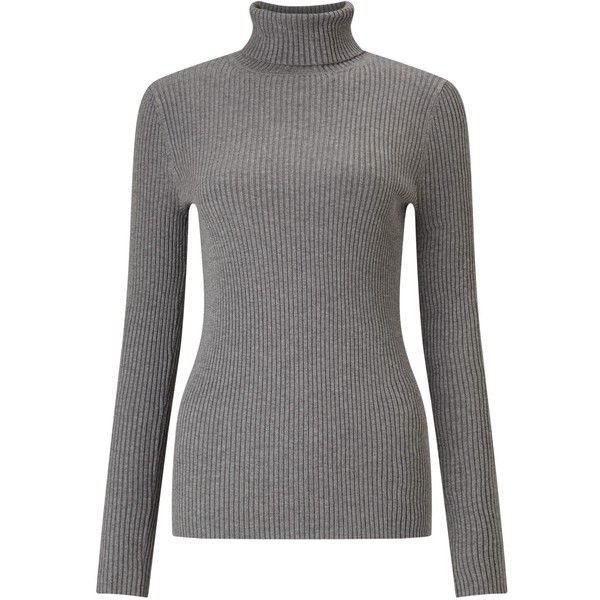 John Lewis Skinny Rib Roll Neck Jumper , Silver Grey (395 NOK) ❤ liked on Polyvore featuring tops, sweaters, silver grey, jumpers sweaters, long sleeve sweater, roll neck jumper, ribbed sweater and roll neck sweater