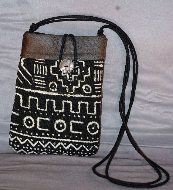 Cross body handmade African Mud Cloth bag fully lined in pseudo suede fabric  with an adjustable 80f2860b7b8e6