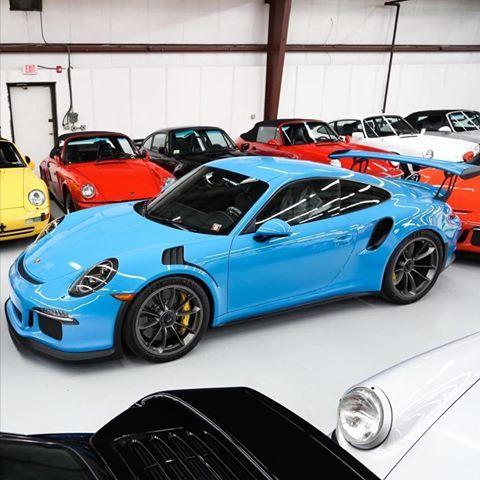 A Stunning Pts Miami Blue 991 Gt3 Rs At Sloancars This Was The First One That Landed In The Us Still Available For Porsche Cars Porsche Gt3 Porsche 991 Gt3
