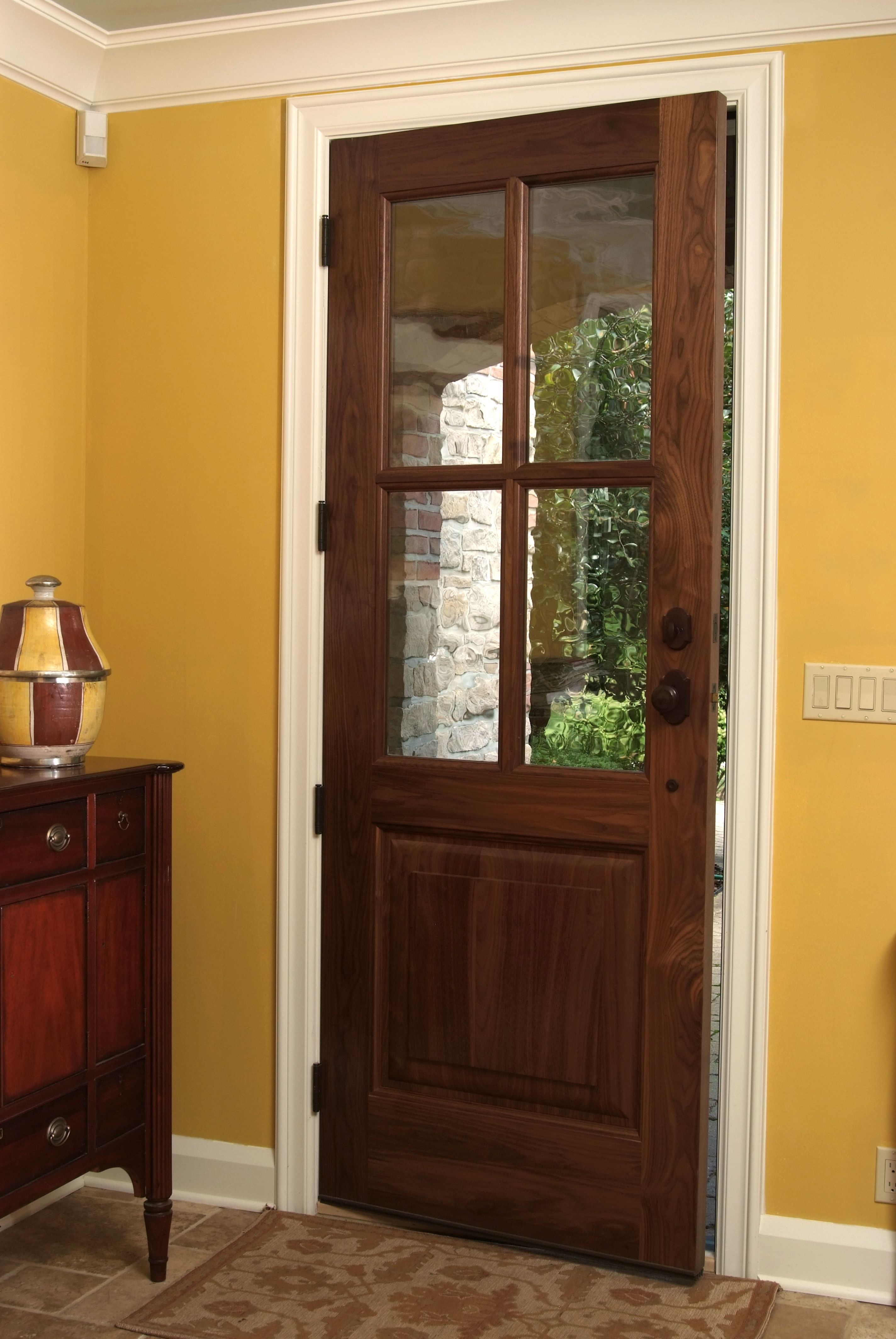 Custom Walnut 4 Litesingle Raised Panel Exterior Entry Door