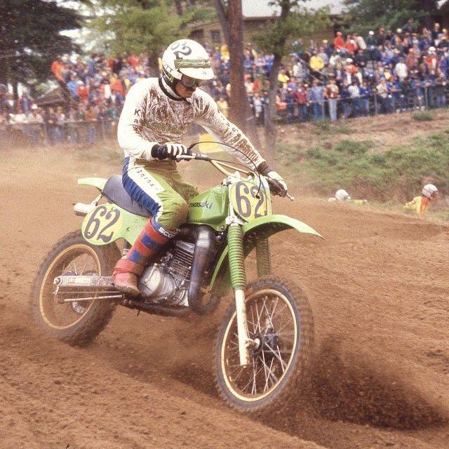 Another #TBT gem from #1979 Gaylon Mosier at Southwick... @professor296 #motocross #moto #mx #supercross #vintgemx #Kawasaki @mosier518