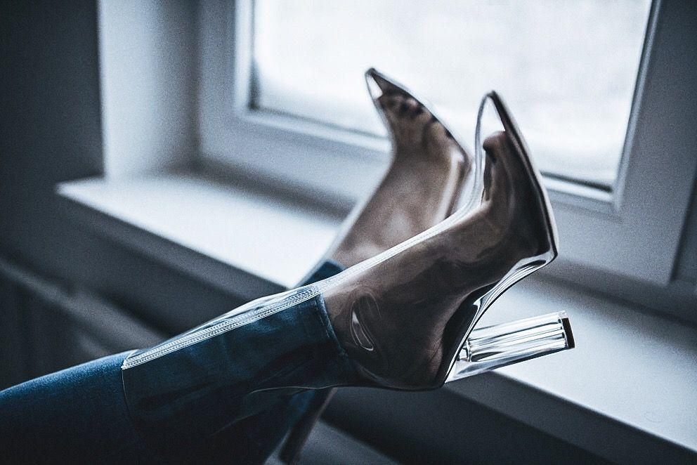 Oksana Orehhova - Public Desire Boots - TRANSPARENT | LOOKBOOK