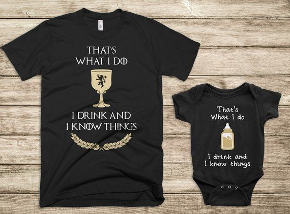 0e2b4bd4a Dad and Baby Matching Shirts (Black), Father Son Matching Shirts, Christmas  Shirt, Game of Thrones M