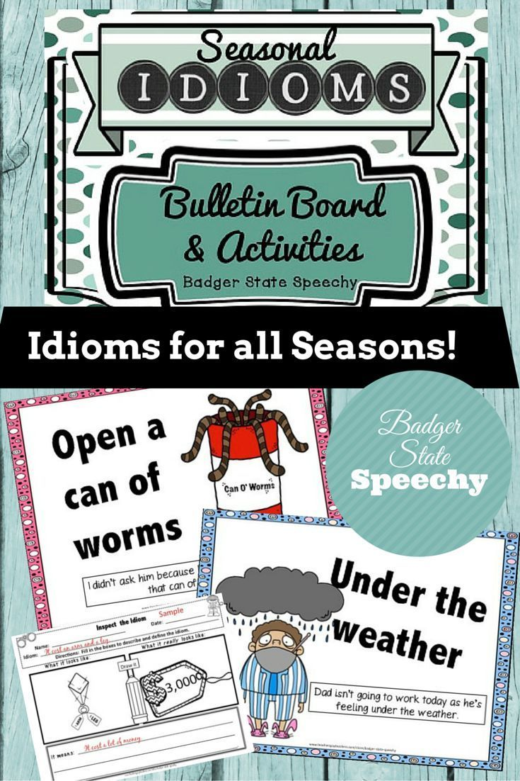This seasonal idioms packet contains posters that can be used for bulletin boards and/or teaching of figurative language.