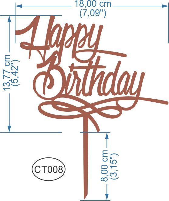 Cake Topper Happy Birthday. -Pedidos/InquirIes to ...