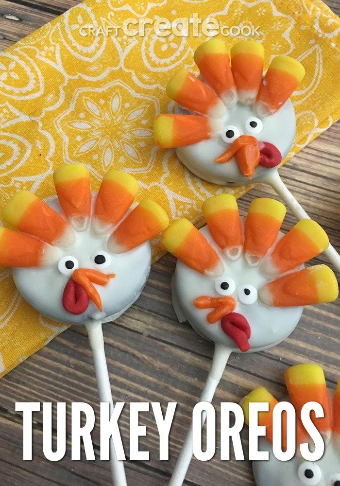 Turkey Oreo Pops #oreopops