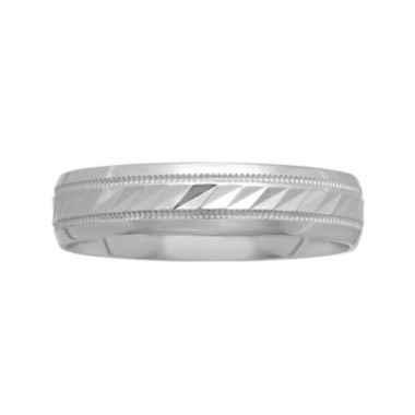BEST VALUE! Mens 5mm Wave-Pattern Wedding Band in 10K Gold  found at @JCPenney