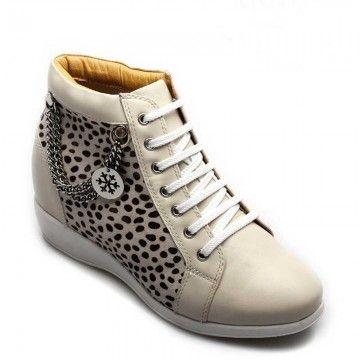 boot shoes lifts 75cm white microfiber elevators shoes