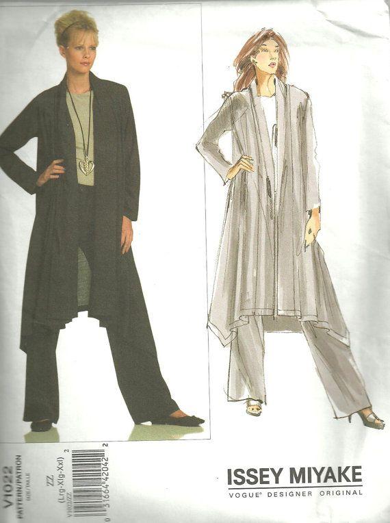 Vogue 1022 Designer Sewing Pattern By Issey Miyake Sizes L XL XXL