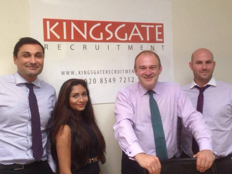 We had a visit from Edward Davey, the Secretary of State for Energy and Climate Change, and the local MP for Kingston and Surbiton.  Hats off to Ed as he landed at 7am at Heathrow from his trip to meet the Prime Minister of India and was still in good spirits when he arrived at Kingsgate Recruitment.  We spoke to him about the #recruitment market and to discuss how we champion the #apprenticeship scheme.  Welcome to the team Ashna!