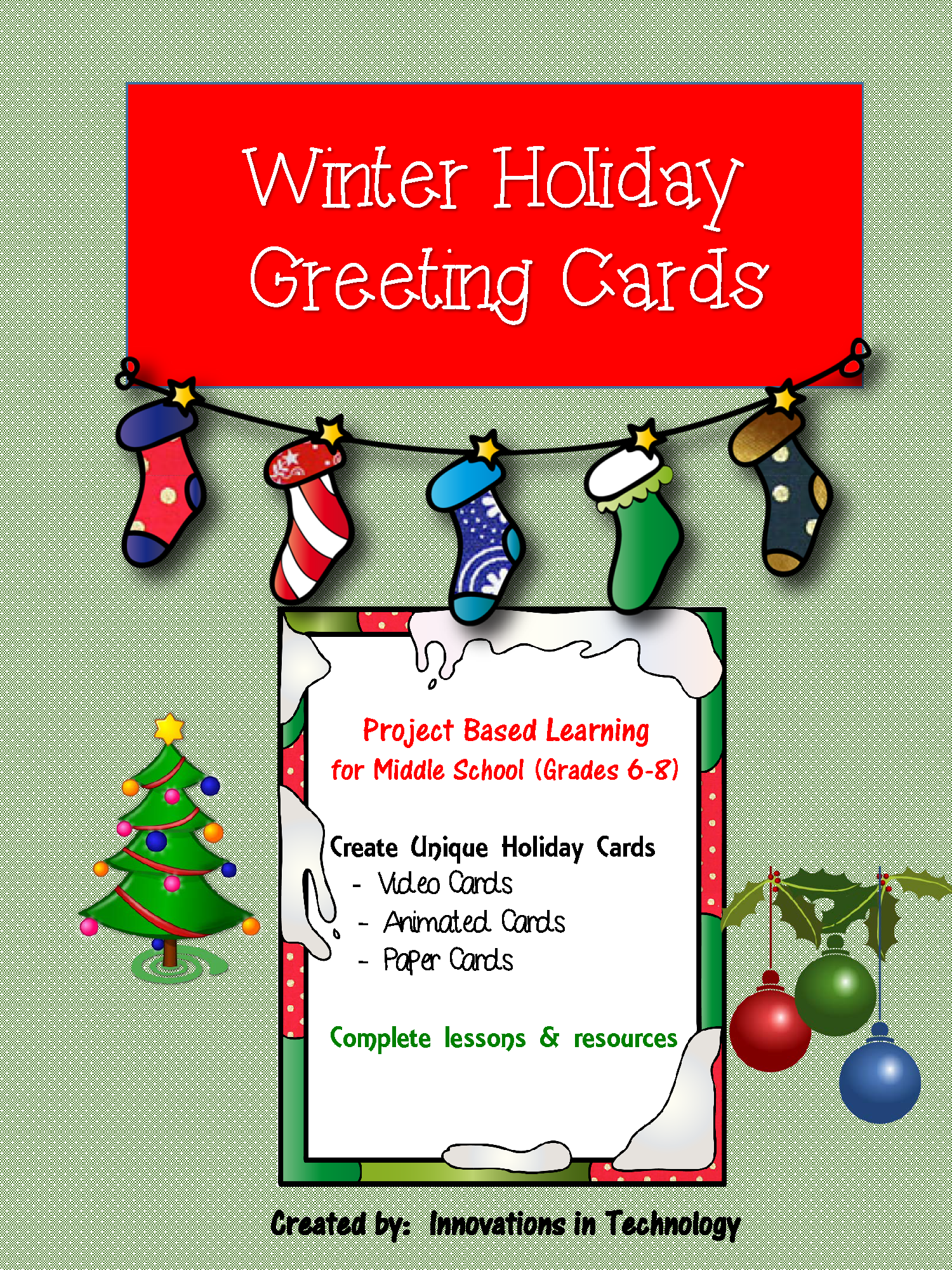 Winter Holiday Cards Video Ecard Paper Projects Winter