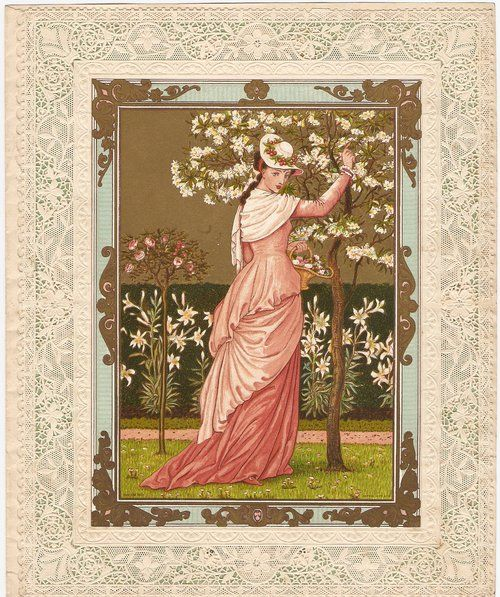 Antique Marcus Ward Valentine Card - Circa 1876