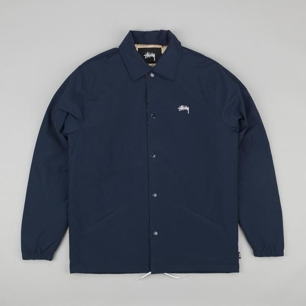 602b38719 Stussy Player Coaches Jacket - Navy | it's nice that | Jackets, Mens ...