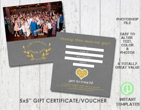 Photography gift voucher certificate template by instanttemplates photography gift voucher certificate template by instanttemplates 495 templates price gift photoshop elementsadobe yelopaper Choice Image
