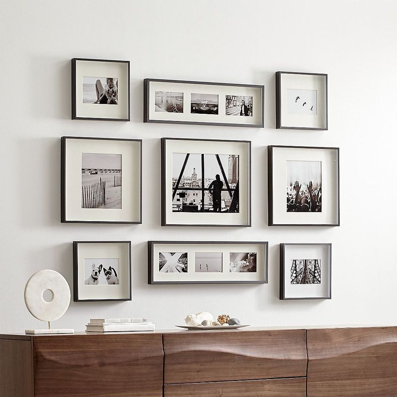 Smartphone Frames Collection Set Of 9 11x11 Inch Square Photo Wood Frames White Goldenstateart2 Frame Collection Instagram Frame Frame