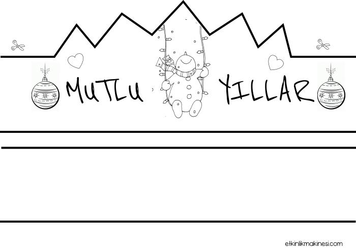 Okul Oncesi Yeni Yil Sapkasi Okul Oncesi Yeni Yil Taci Okul