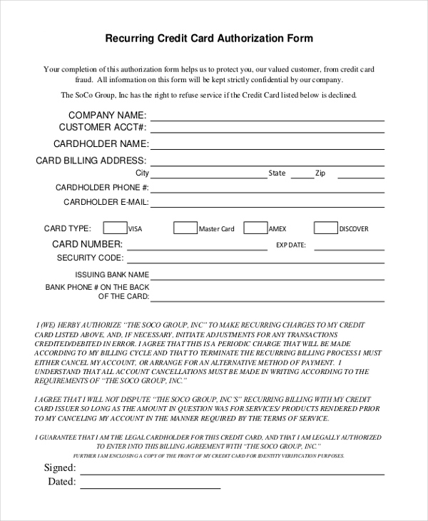 Free 13 Sample Credit Card Authorization Forms In Pdf Ms Throughout Corporate Credit Card Agreement Tem Hotel Credit Cards Corporate Credit Card Credit Card