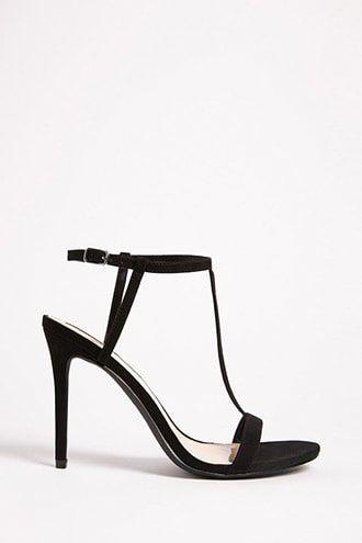 00de46203aa8 Faux Suede T-Strap Heels Forever 21 Shoes