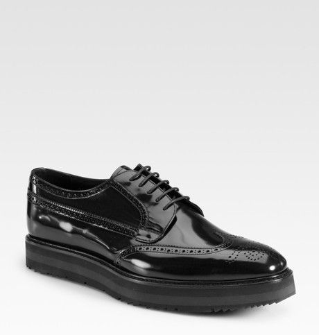 97fc222d Prada Espadrille Oxford Laceups in Black for Men | Lyst | Shoes in ...