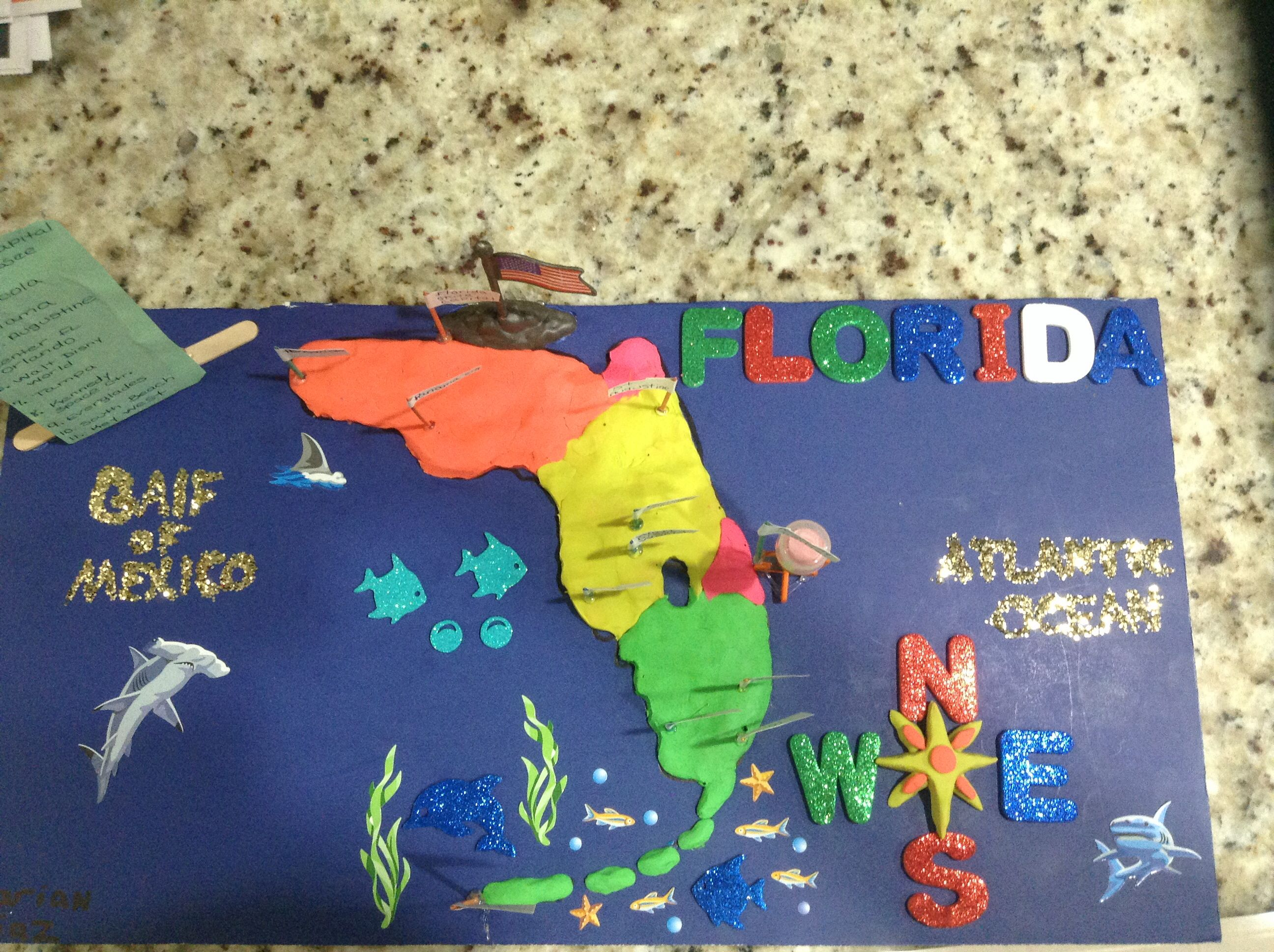 Pictures Of Th Grade Map Projects The Grapevine D Florida - Florida map activities 4th grade