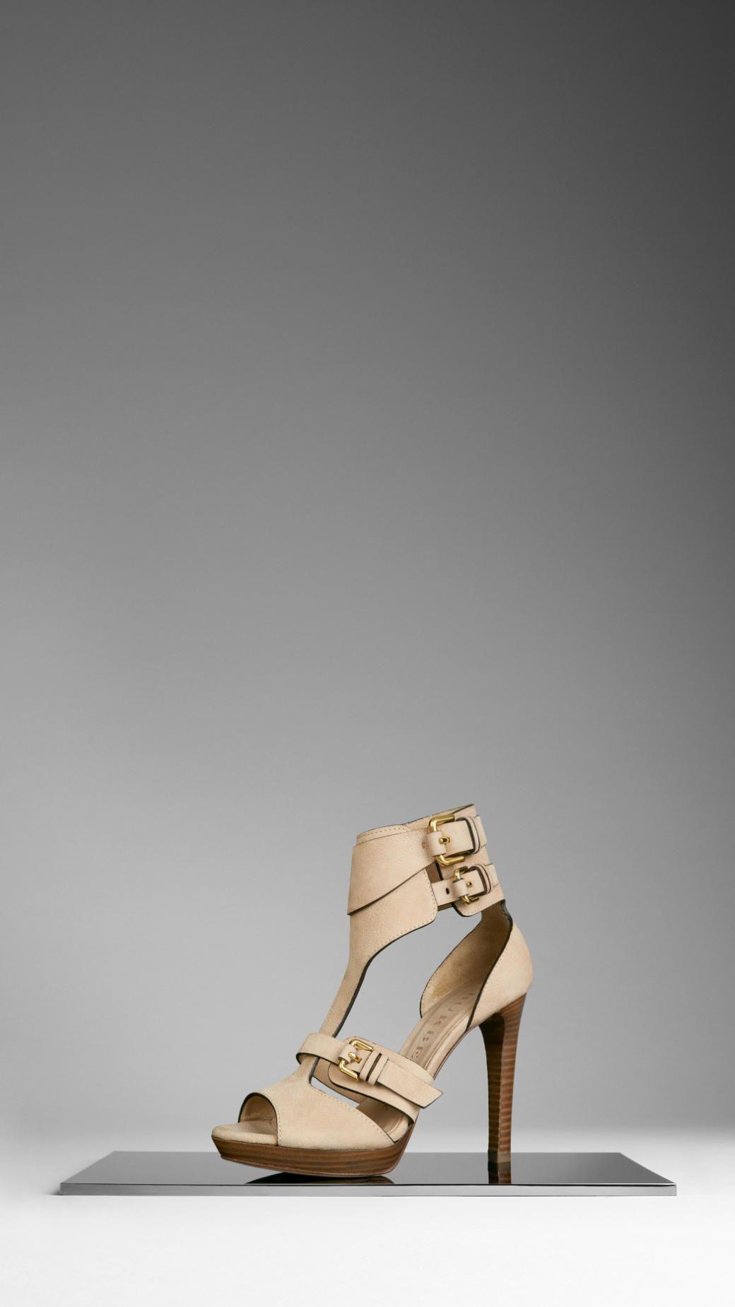 33eb785bda61 Buckle Detail Nubuck Sandals