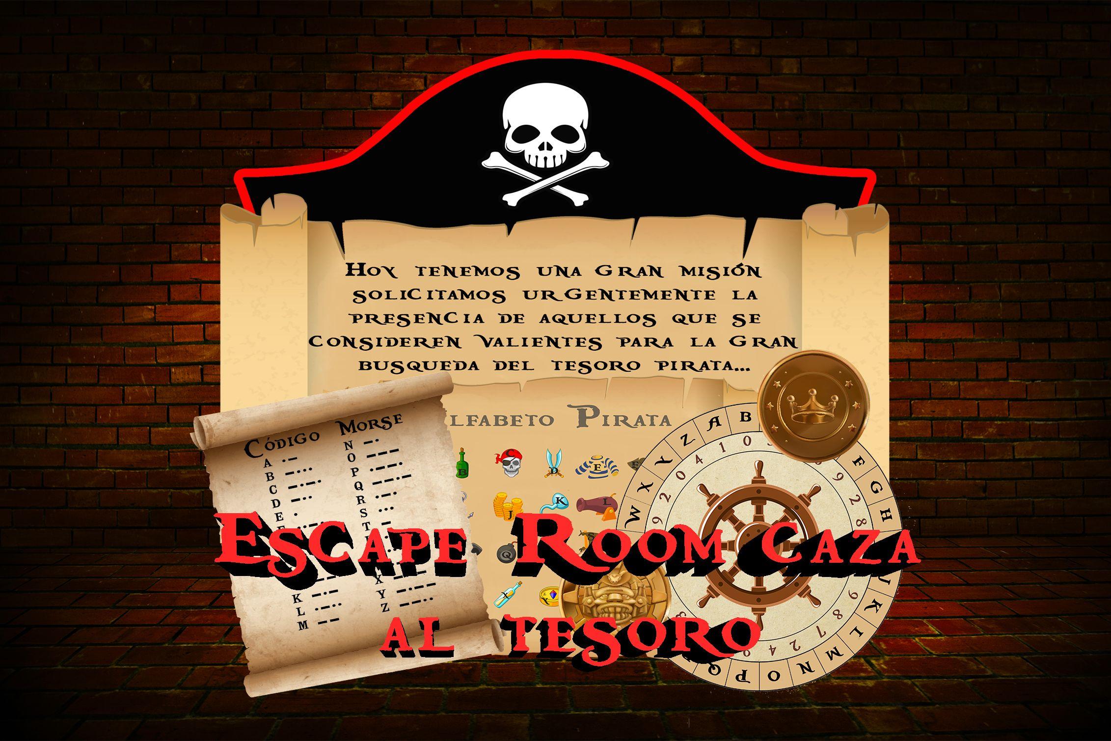 Juego Caza Al Tesoro Escape Room Para Niños Decoración Pirata Juego En Casa Fiesta De Cumpleaños Juegos Y Sombrero Español Familia Amigos Escape Room Fiestas De Adultos Pistas Para La