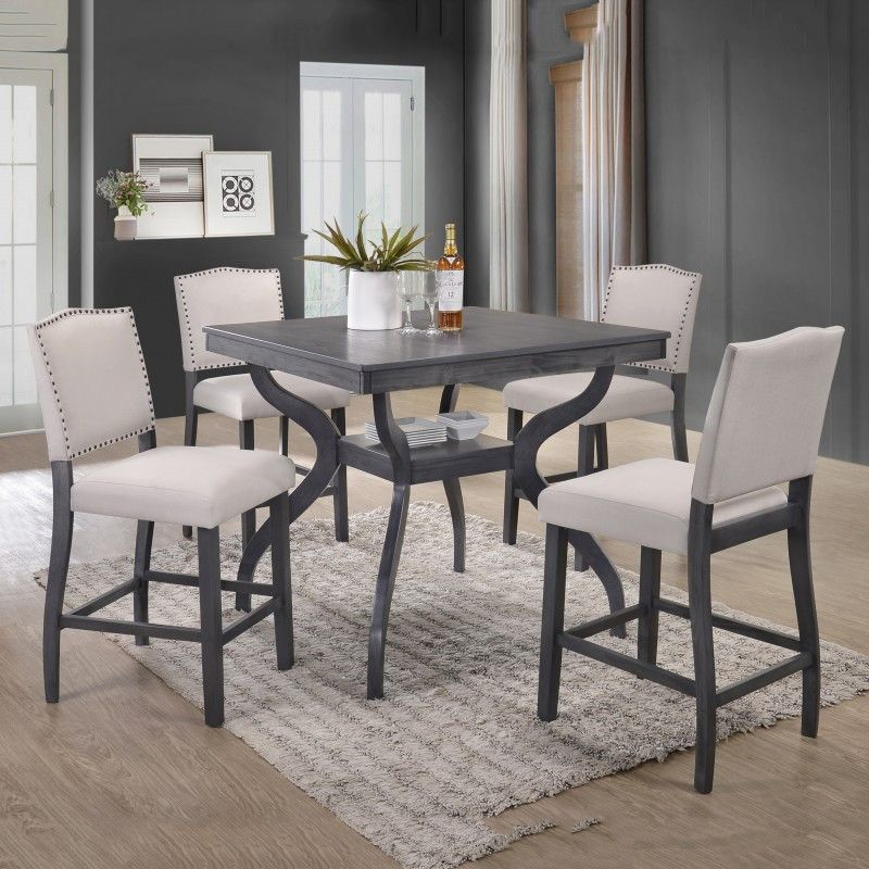 31+ Gray counter height dining table set Best