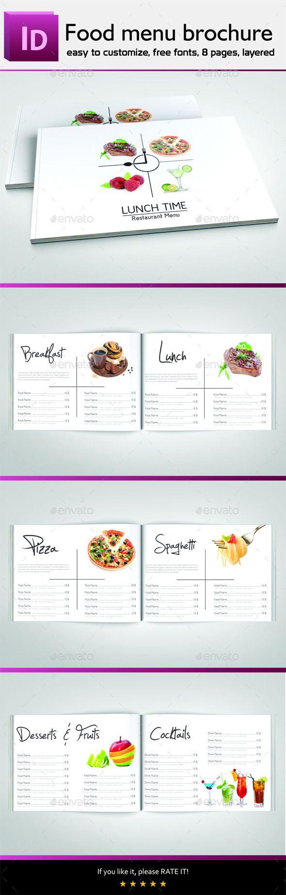 Food Menu Brochure | Menus restaurantes y Restaurante