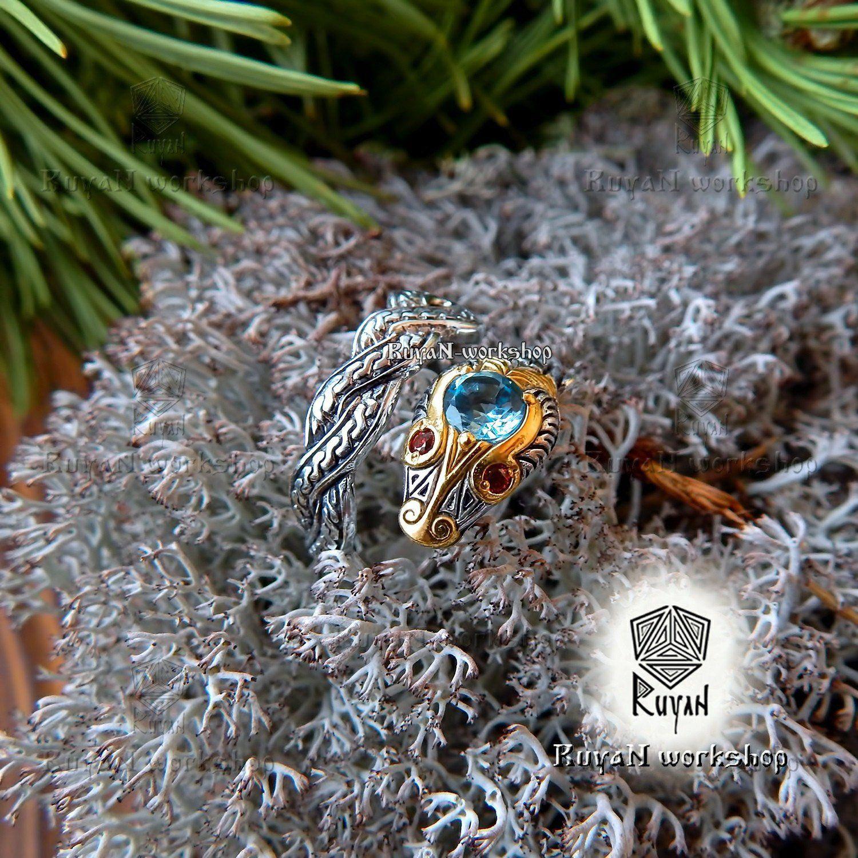 Snake ring. Ouroboros ring. Jörmungandr ring. Norse Viking