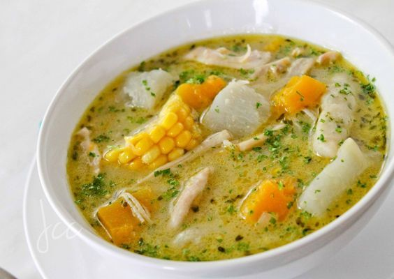 Caribbean Chicken Soup And Parsley Dumplings Nourish Soup