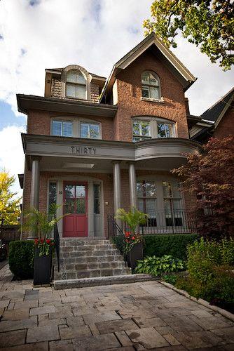 Brick Patio Idea Century Home Eclectic Exterior Toronto Lucid Interior Design Inc