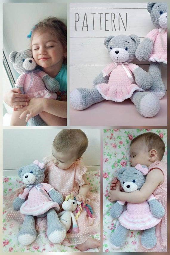 Crochet Teddy Bear Pattern - Amigurumi Crochet Animal Pattern - Patterns for crochet - Crochet Toys Patterns