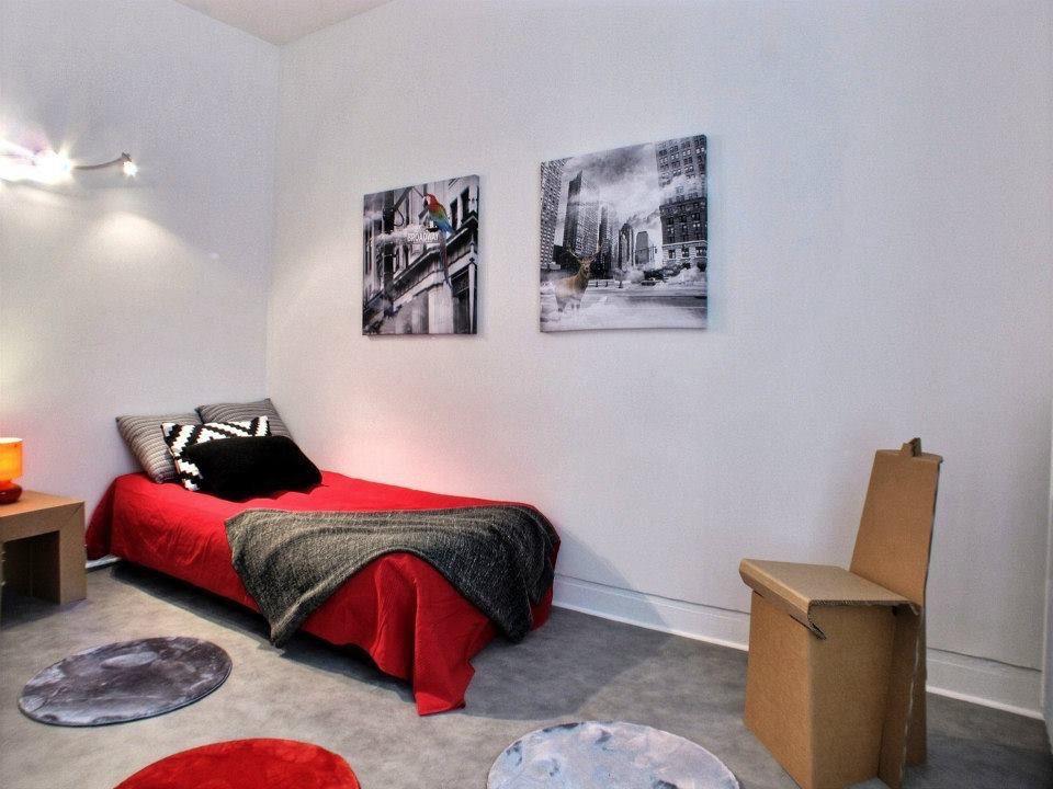 Home Staging Mobilier Carton Chambre Adolescent Par Homeflat Meubles En Carton Chambre Enfant Mobilier De Salon
